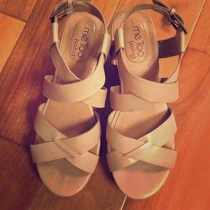 Neutral color Wedge Sandals